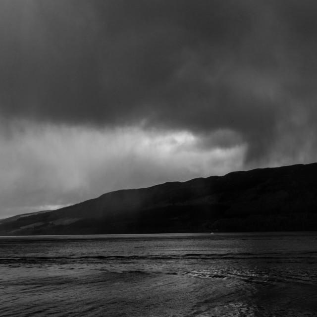 """Loch Ness Rain"" stock image"