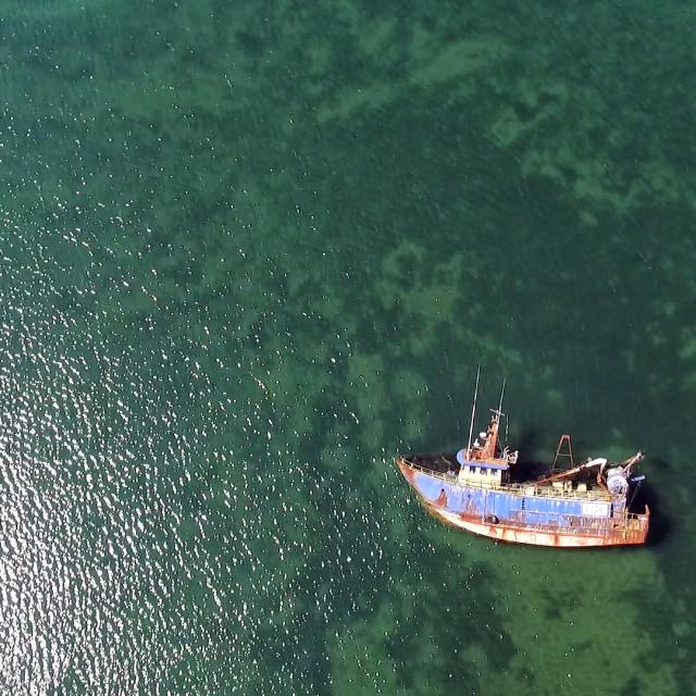 """Baltimore Harbour Shipwreck"" stock image"
