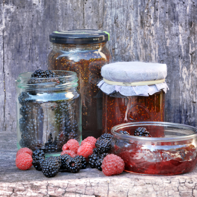 """""""jam with red fruits"""" stock image"""