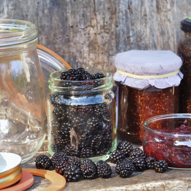 """""""red fruits and jam"""" stock image"""
