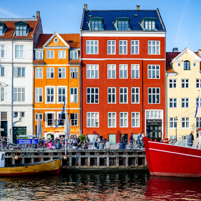 """Colourful houses in Nyhavn"" stock image"