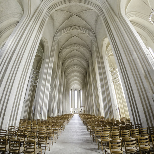 """Inside Grundtvigs Church"" stock image"