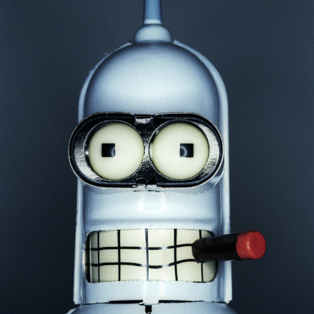 """""""A Close up of Bender"""" stock image"""