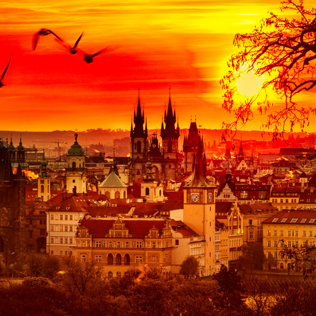 """Prague sunrise 2.0"" stock image"