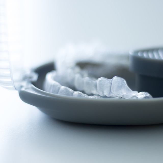 """""""Invisible dental brackets case"""" stock image"""