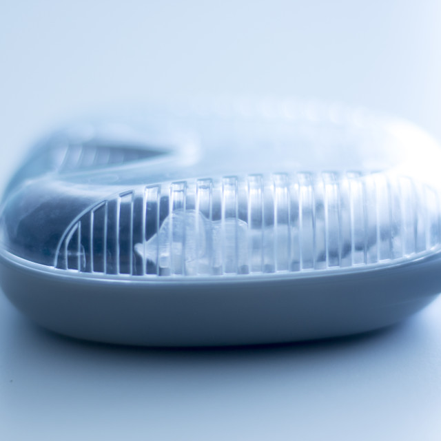"""Invisible dental aligners case"" stock image"