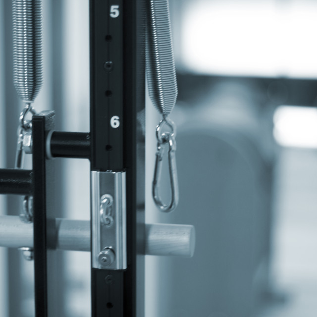"""Pilates studio gym equipment"" stock image"