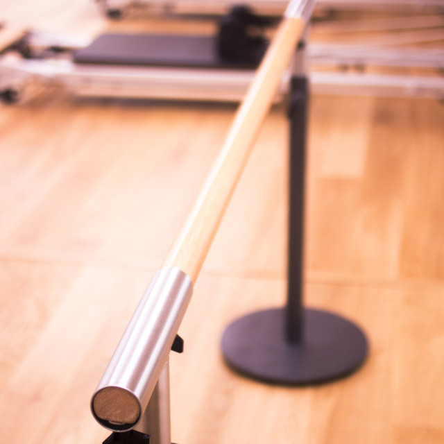 """""""Pilates equipment in gym"""" stock image"""