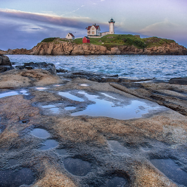 """Nubble lighthouse, Maine, USA"" stock image"