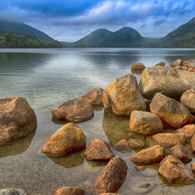 """Jordan Pond, Maine, USA"" stock image"