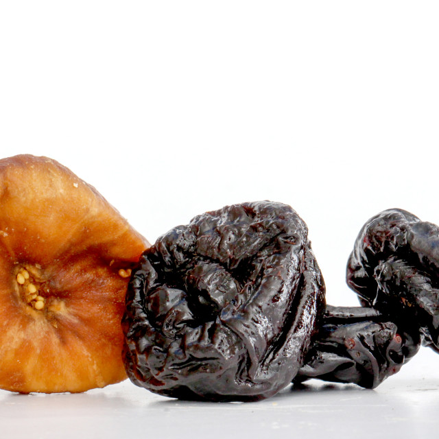 """Dried prune in closeup"" stock image"