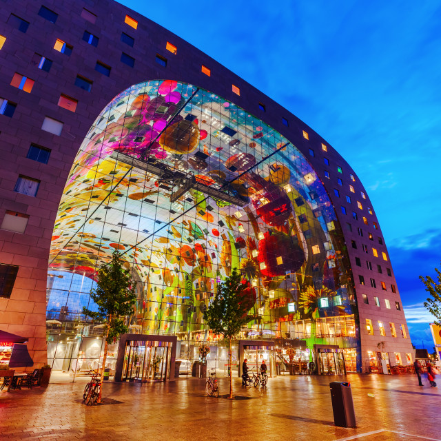 """market hall in Rotterdam"" stock image"