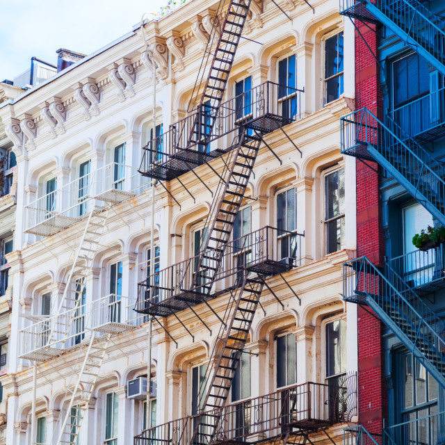"""old buildings in Soho, NYC"" stock image"