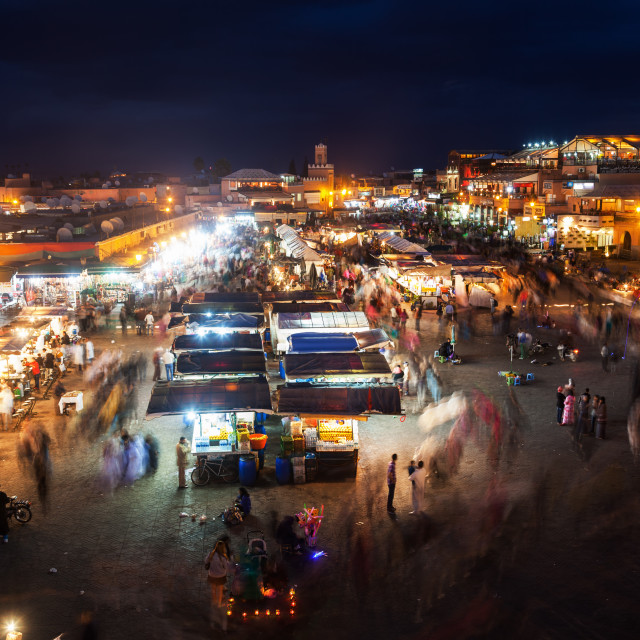 """Djemaa el Fna at night"" stock image"