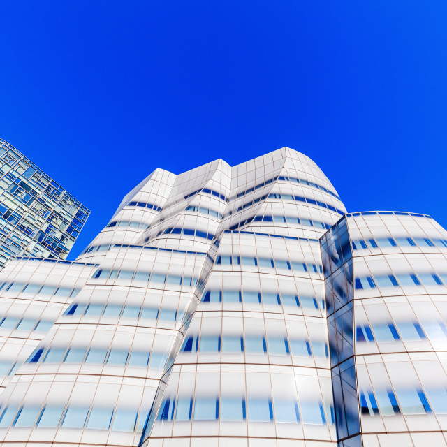"""""""building of Frank Gehry in NYC"""" stock image"""