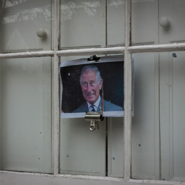 """""""Prince Charles in the Window"""" stock image"""
