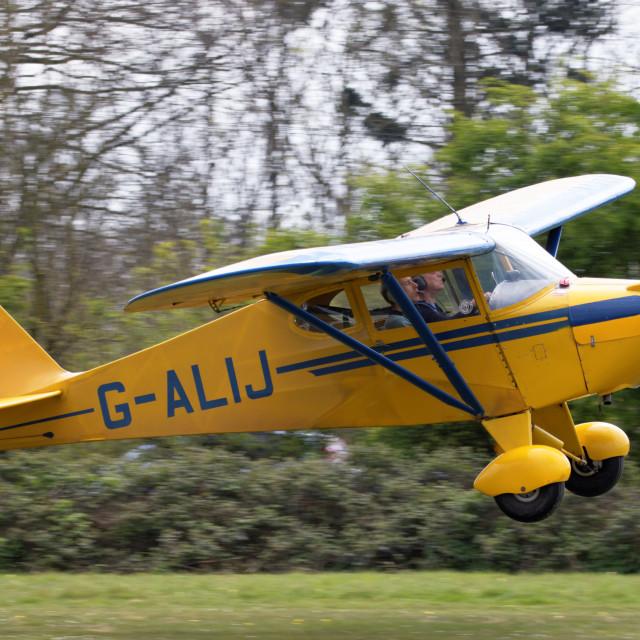 """G-ALIJ Piper PA-17 Vagabond"" stock image"