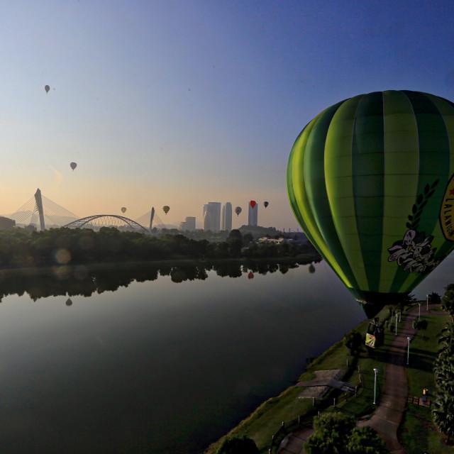 """My ballon fiesta held recently at Putrajaya Malaysia on the 12th March 2017"" stock image"