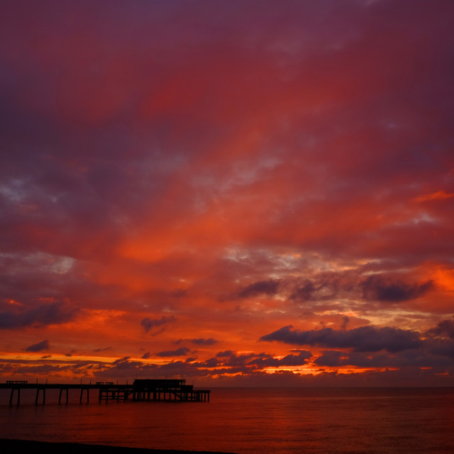 """Sunrise at Deal"" stock image"
