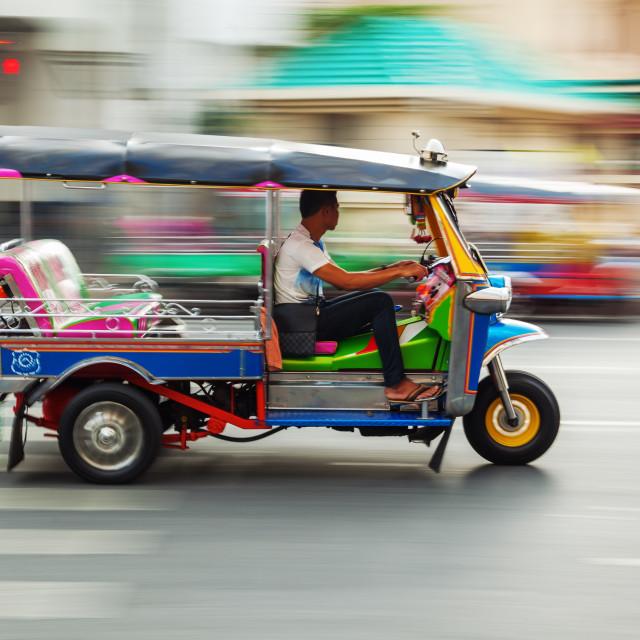 """""""tuk-tuk in Bangkok"""" stock image"""
