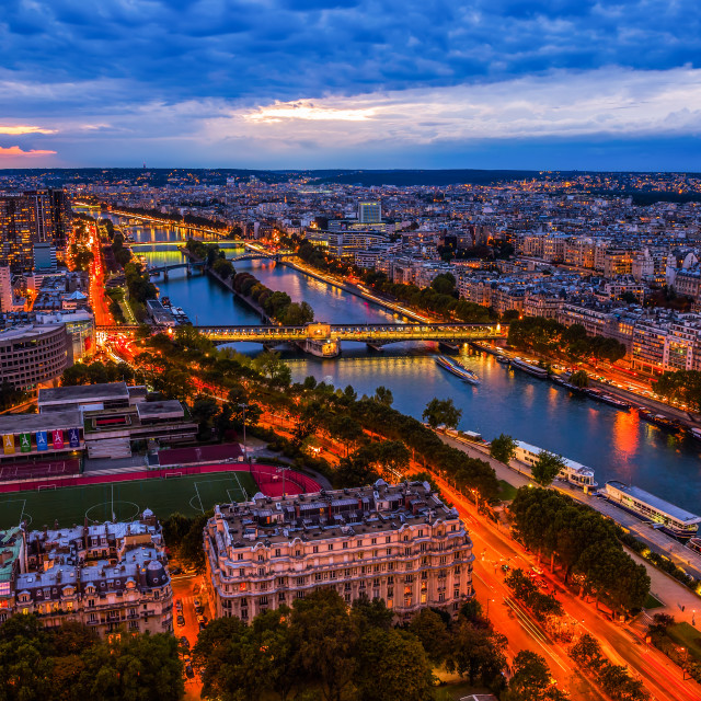 """aerial view of Paris"" stock image"