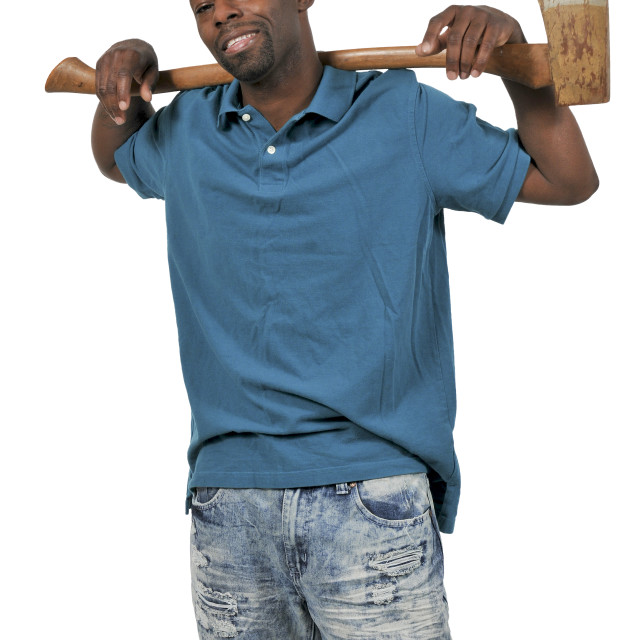 """Man with an axe"" stock image"