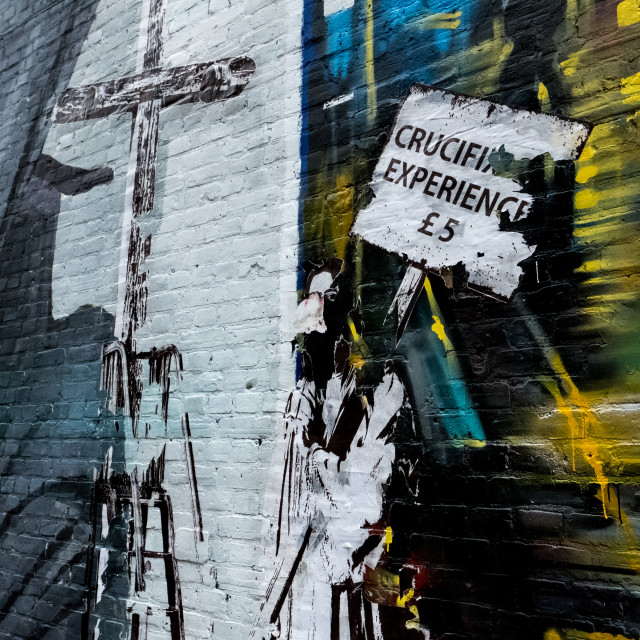 """Crucifixion fo £5"" stock image"