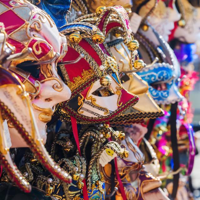 """""""Venetian masks"""" stock image"""