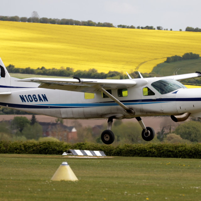 """N106AN Cessna 208B"" stock image"