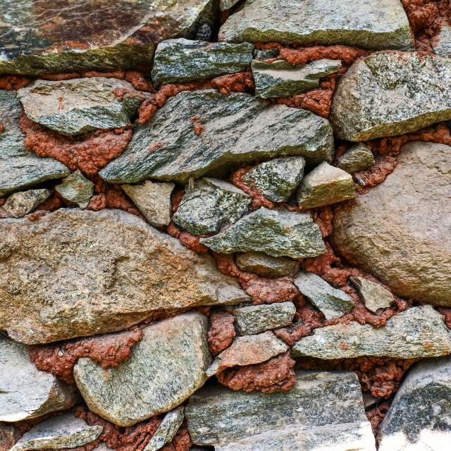 """picture of an old stone wall background"" stock image"