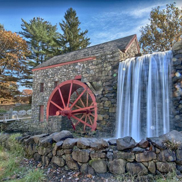 """19th century grist mill"" stock image"