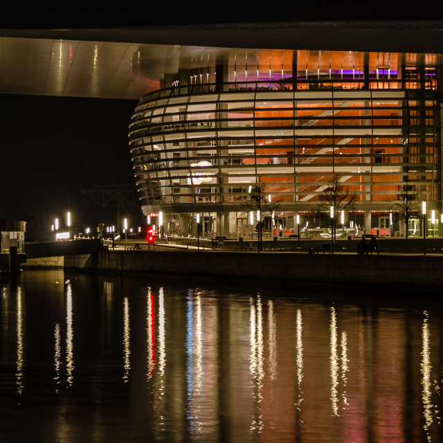 """Opera House at night, Copenhagen"" stock image"