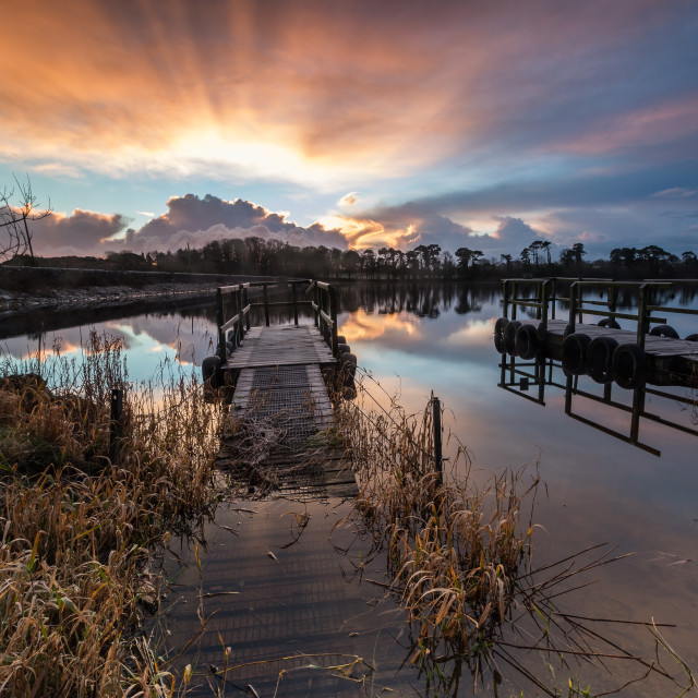 """Knockaderry Sunrise"" stock image"