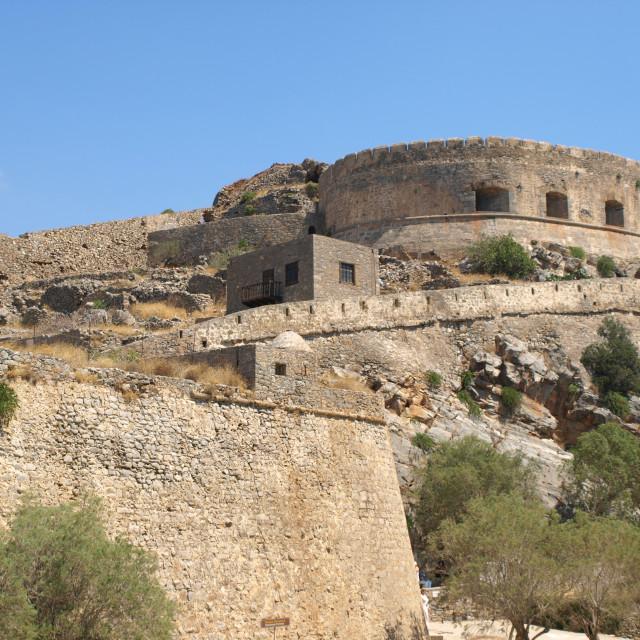 """Spinalonga Citadel Walls"" stock image"