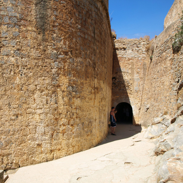 """Spinalonga Citadel"" stock image"
