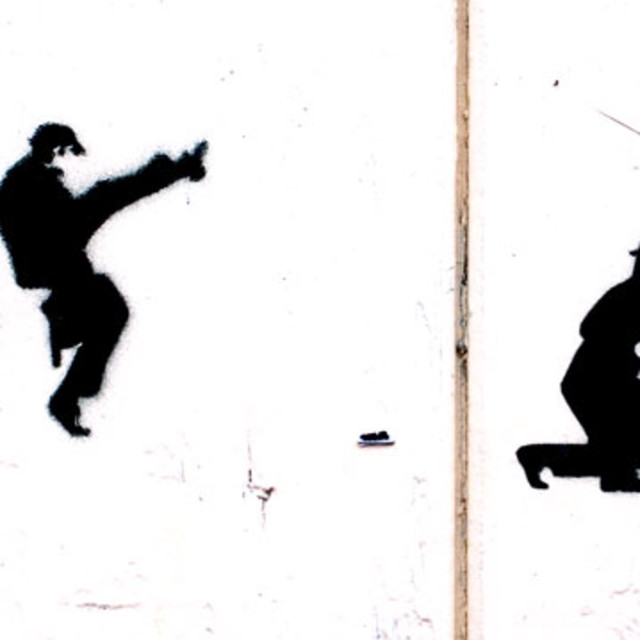 """""""Ministry of silly walks"""" stock image"""