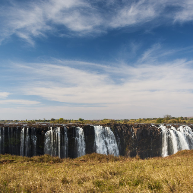 """View of the Victoria Falls in Zimbabwe, Africa"" stock image"