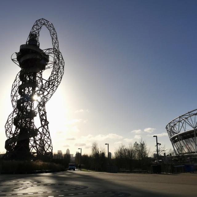"""Orbit at Olympic Stadium"" stock image"