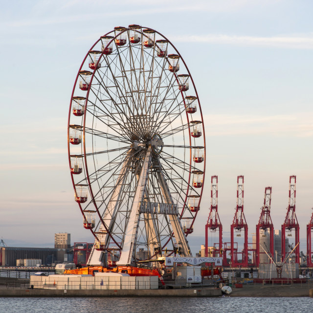"""New Brighton Big Wheel"" stock image"