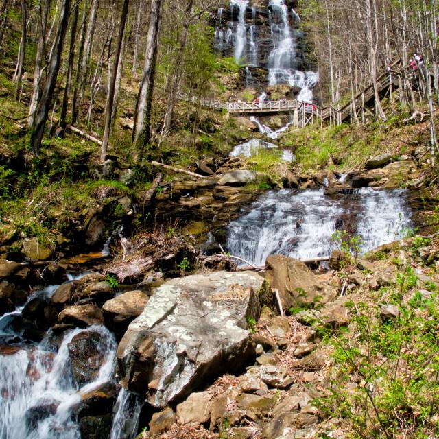 """Amicalola Falls 7"" stock image"