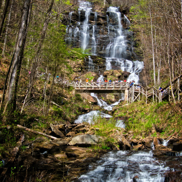 """Amicalola Falls 10"" stock image"
