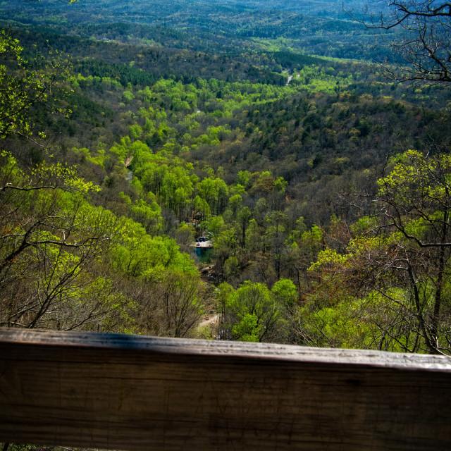 """Amicalola Falls Overlook"" stock image"