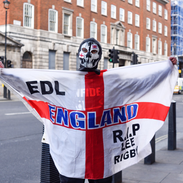 """English Defence League in London 2017"" stock image"