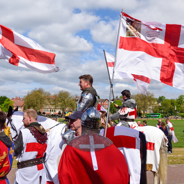 """""""St Georges Day in Nottingham,UK."""" stock image"""
