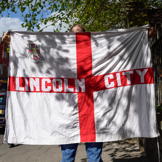 """""""Lincoln City Football Club Supporter ."""" stock image"""