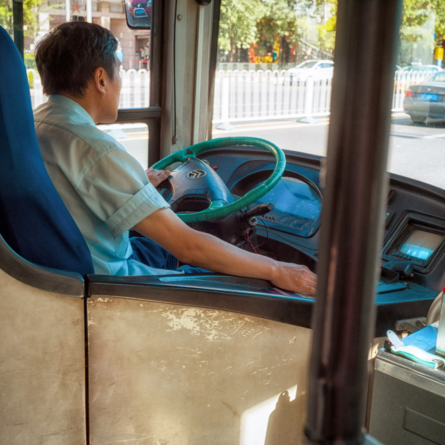 """Bus driver"" stock image"