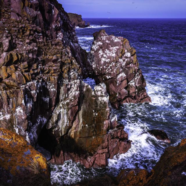 """Cliff in Scotland"" stock image"