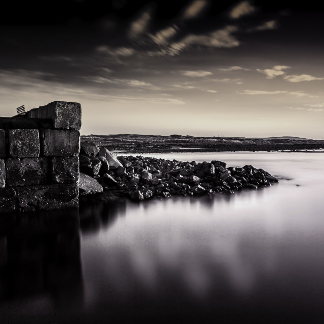 """""""Inverallochy harbour"""" stock image"""