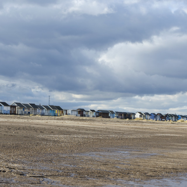 """Sandilands Beach Huts"" stock image"