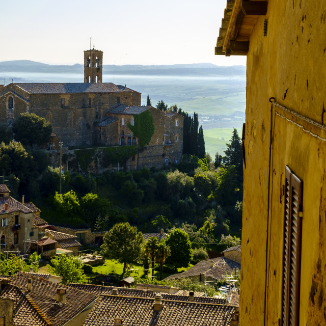"""Montalcino is famous for its production of high quality wines"" stock image"